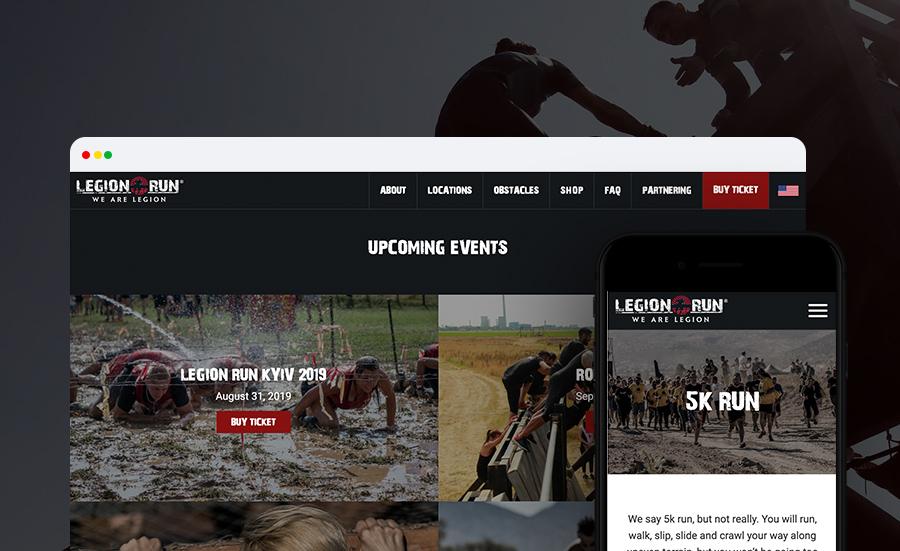 Legionrun website redesign